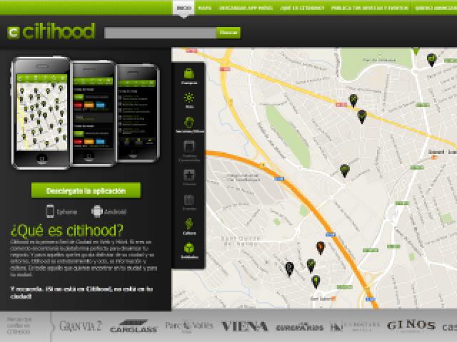 Citihood – Portal con geolocalización de comercios