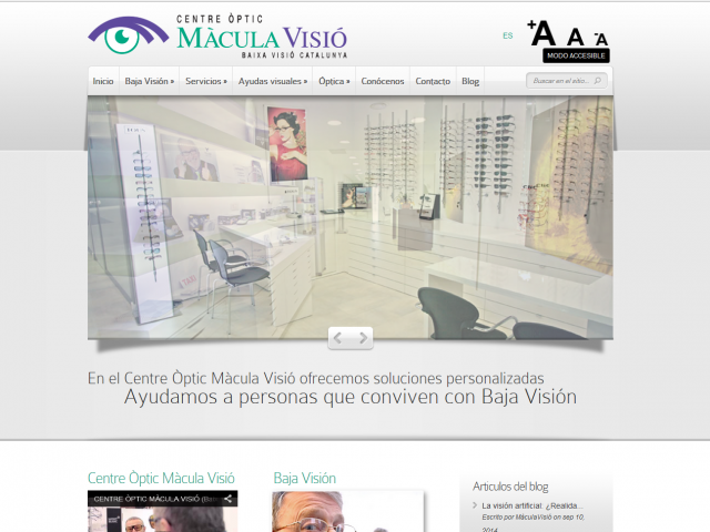 Maculavisio.com – Web en wordpress con ElegantThemes