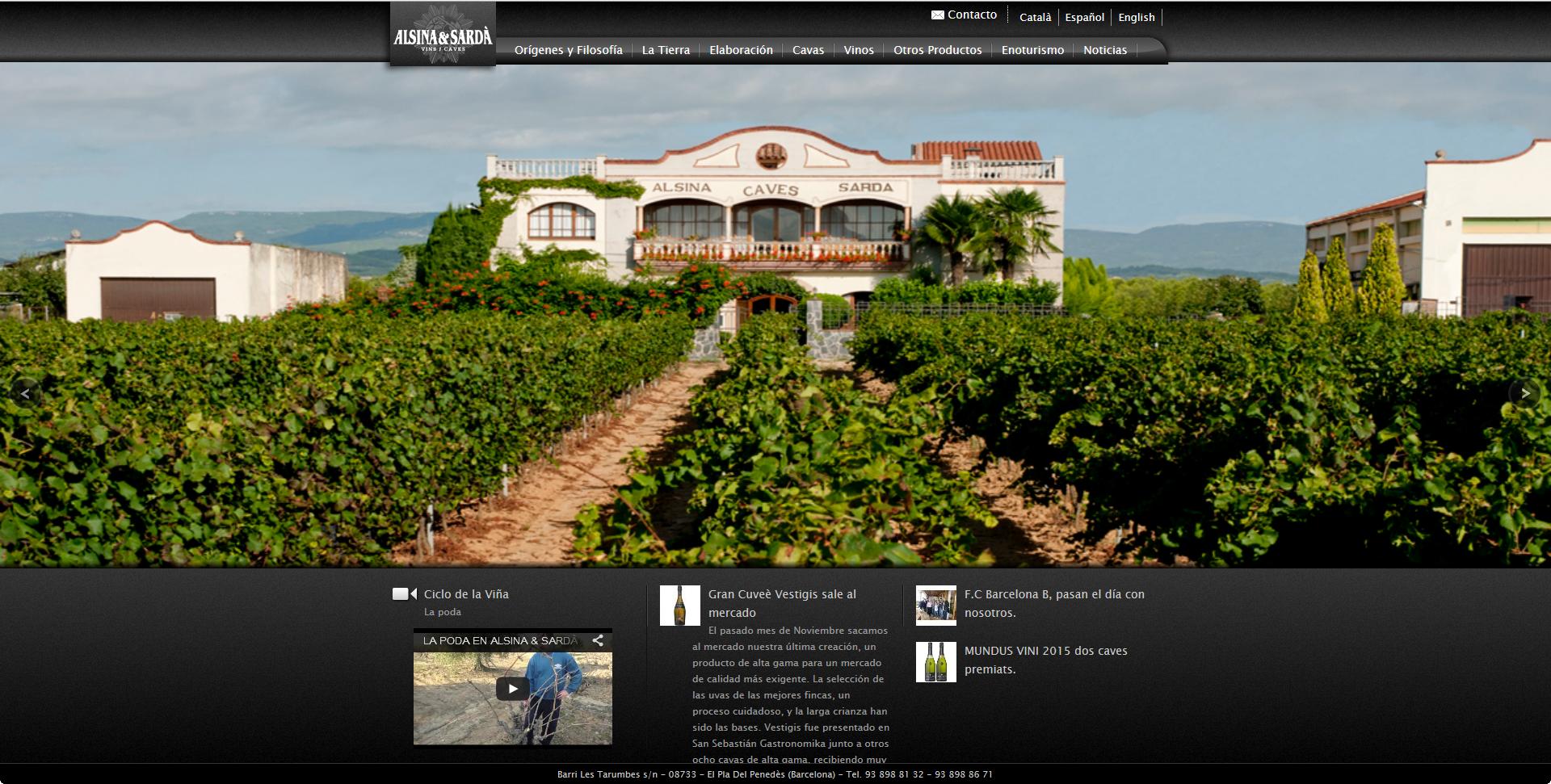 AlsinaSarda.com – Web con Gestor Documental OpenSource