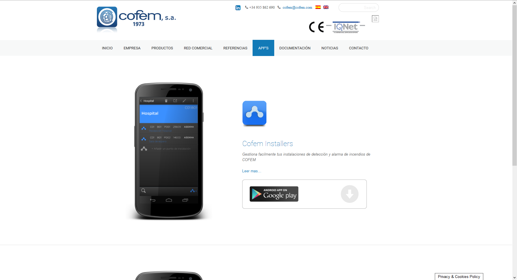 Cofem.com – WordPress con Themify