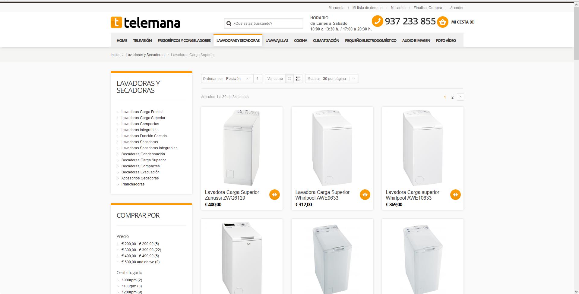 Telemana – Magento con Shopper Theme