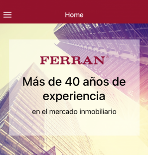 Grup Ferran – App ionic con WordPress  para android y iphone