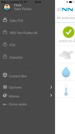 FluidraConnect.com – Internet of Things – IONIC App con Apache PhoneGap Crossplatform