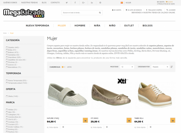 Megacalzado.com – Mgcshoes.com – Loogo.eu – Magento Multisite