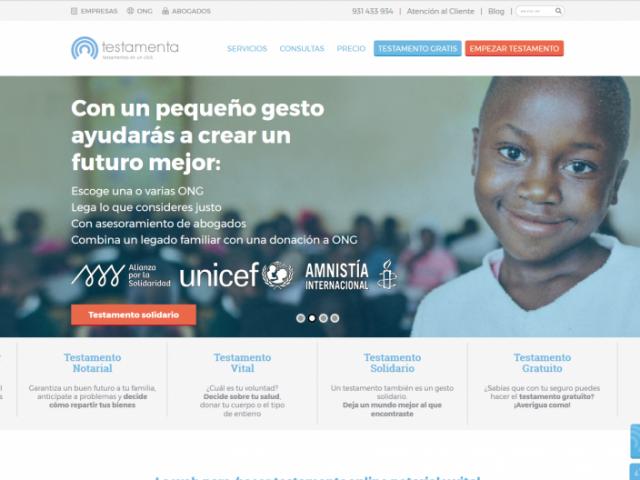 Testamenta.es- WordPress – Laravel PHP framework